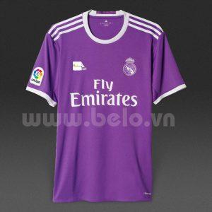 Áo bóng đá câu lạc bộ Real Madrid màu tím 2016-2017