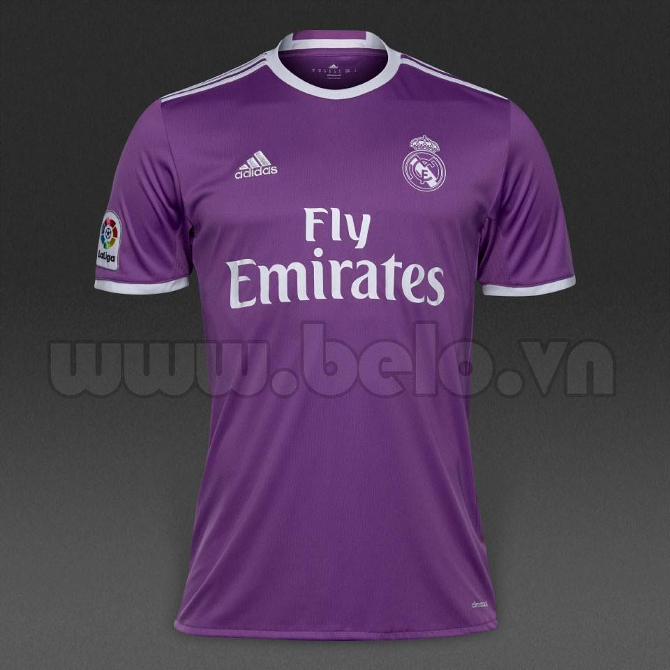 Áo Real Madrid sân khách màu tím 2016-2017 giá rẻ nhất
