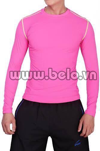 Áo lót body thể thao cao cấp màu hồng AL002