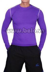 Áo lót body thể thao cao cấp màu tím AL003