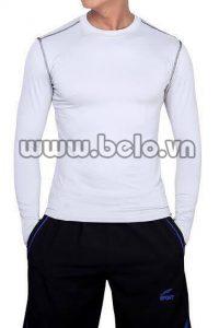 Áo lót body thể thao cao cấp màu trắng AL004