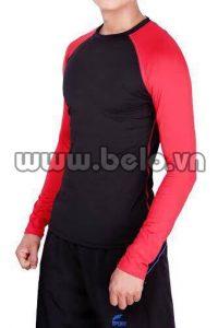 Áo lót body thể thao cao cấp màu đen đỏ AL007