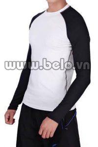 Áo lót body thể thao cao cấp màu  đen trắng AL0010