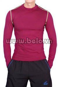 Áo lót body thể thao cao cấp màu  đỏ  mận AL0011