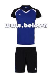 Áo bóng chuyền Mizuno nam xanh biển M01