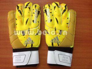 Găng tay thủ môn xịn Adidas Petr Cech Training vàng xọc đen