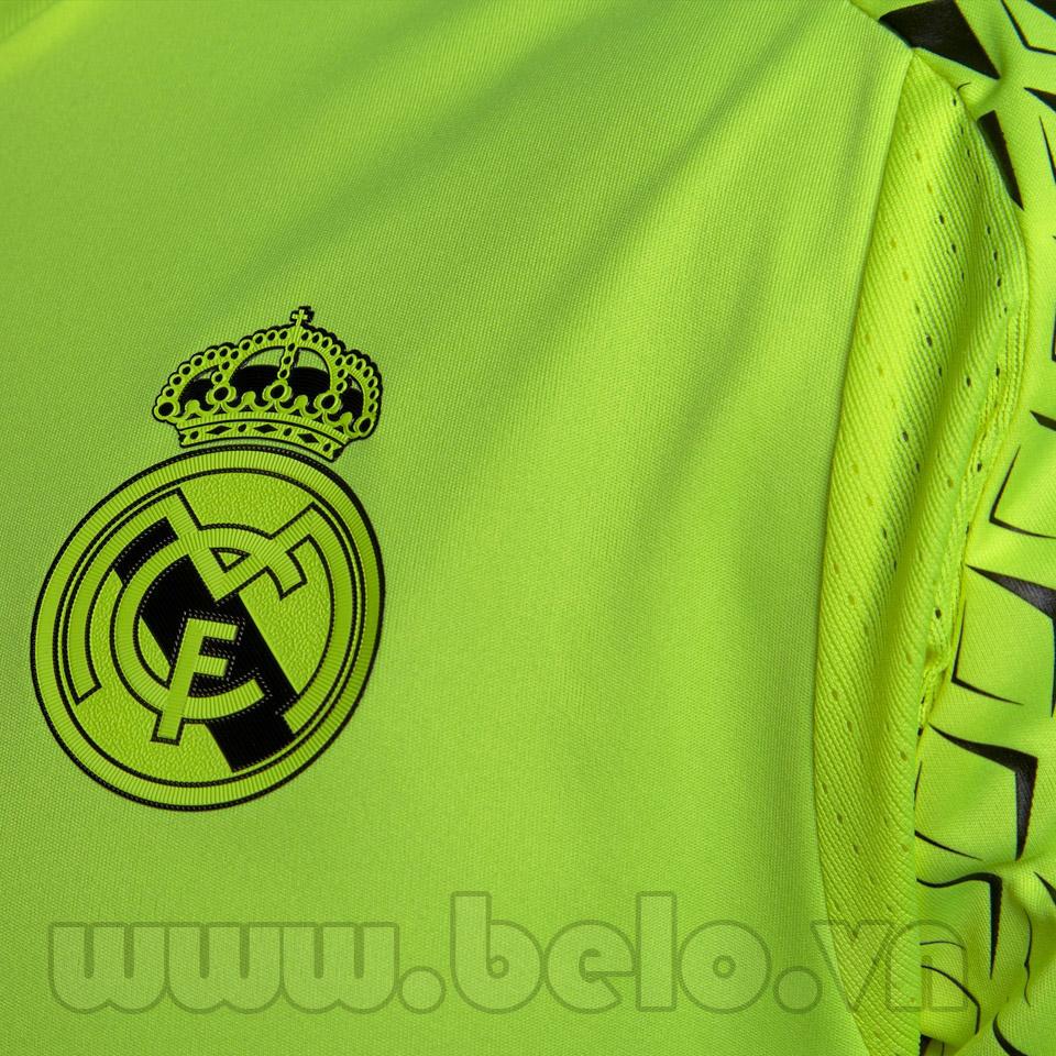 Áo Real Madrid Trainning xanh chuối mùa giải 2016-2017