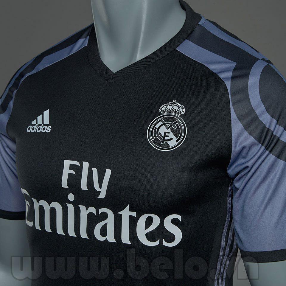 Áo Real Madrid đen ghi sân khách C1 mùa giải 2016-2017
