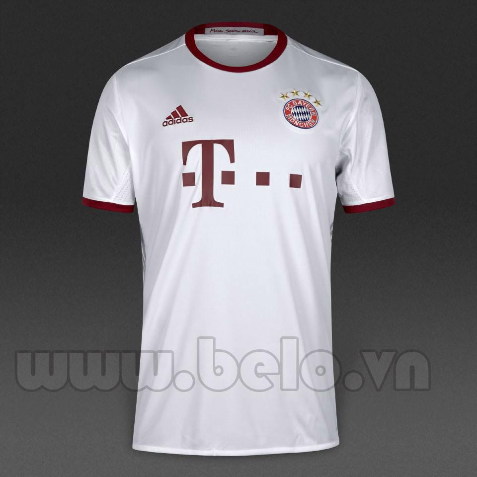 Áo Bayern Munich màu trắng sân khách mùa giải 2016-2017