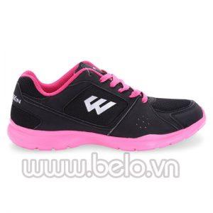 Giày chạy bộ Prowin nữ Running 08 đen hồng đào
