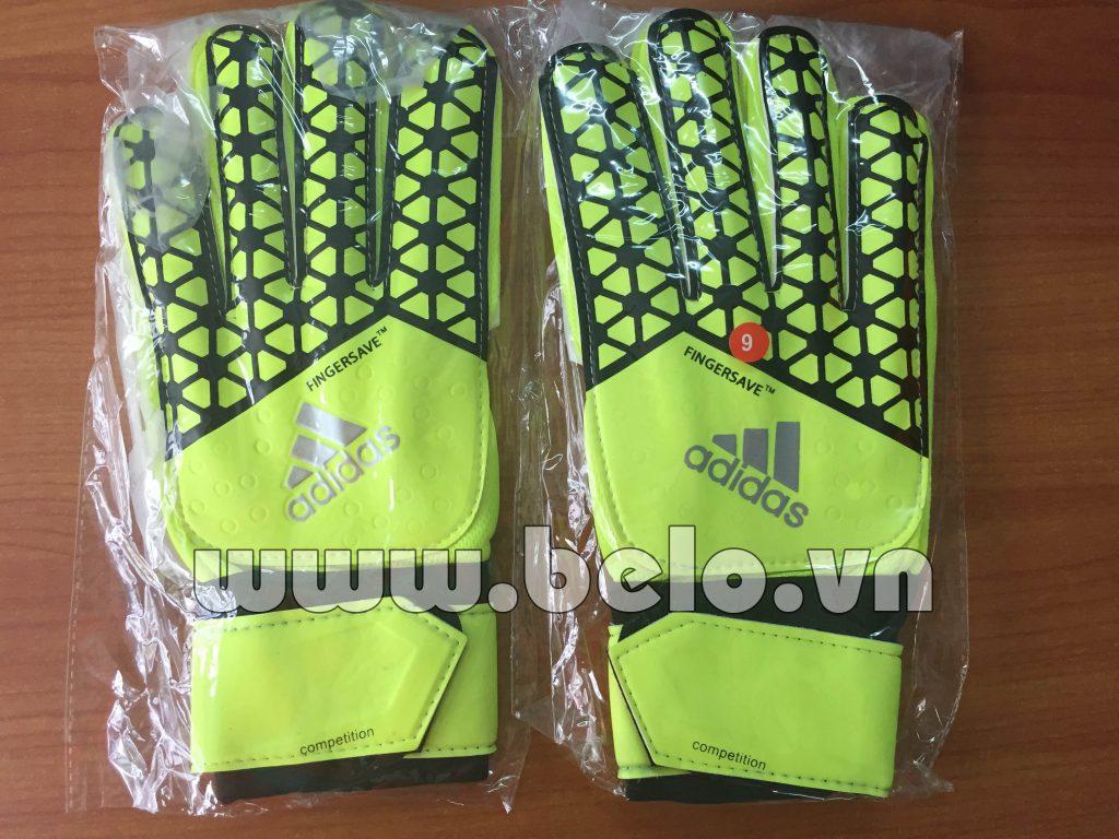Găng tay thủ môn Adidas Fingersave xanh chuối