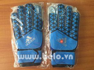 Găng tay thủ môn Adidas Fingersave xanh nước biển