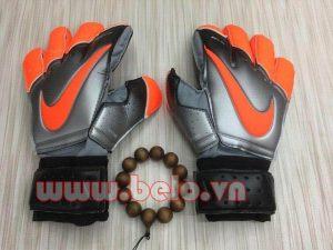 Găng tay thủ môn cao cấp Nike Bioalign xám pha cam