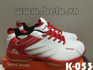 Giày bóng chuyền Kawasaki K-053 trắng pha đỏ