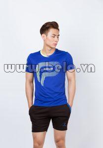 Áo bóng chuyền nam xanh dương mã PN 02