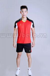 Áo bóng chuyền nam đỏ tươi mã PN 03