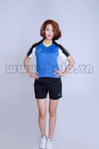 Áo bóng chuyền nữ xanh pha Đen mã PN 09