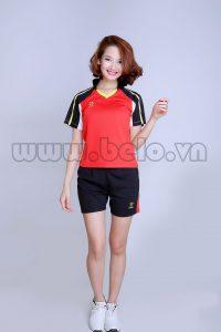 Áo bóng chuyền nữ đỏ tươi pha đen PN 10