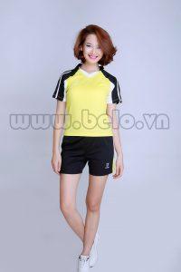 Áo bóng chuyền nữ vàng pha đen PN 11