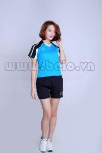 Áo bóng chuyền xanh ngọc pha đen PN12