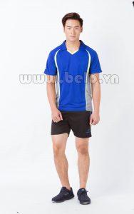 Áo bóng chuyền nam xanh dương pha ghi PN 14