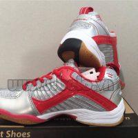 Giày bóng chuyền Kawasaki nữ K-108 bạc pha đỏ
