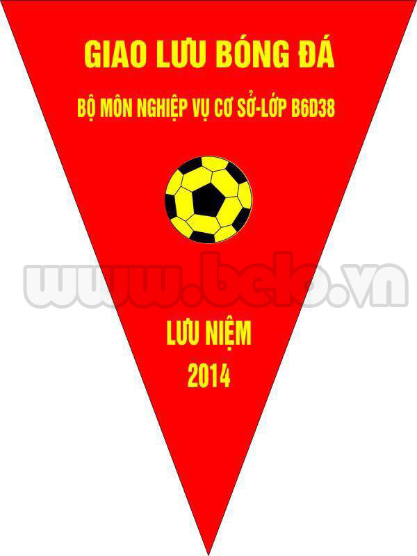Cờ lưu niệm bóng đá mã Belo03