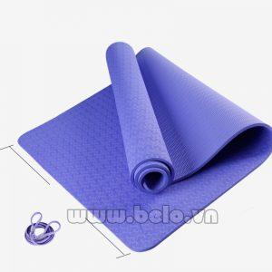Thảm tập yoga  TY208 1 lớp màu xanh da trời chính hãng
