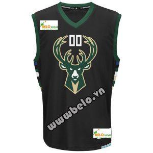 Đồng phục quần áo bóng rổ BR006 đen