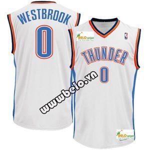 Đồng phục quần áo bóng rổ BR013 trắng