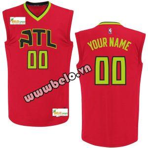 Đồng phục quần áo bóng rổ BR076 đỏ tươi