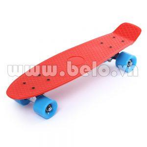Ván trượt Skateboard Plastic ABS nhập khẩu cao cấp đỏ