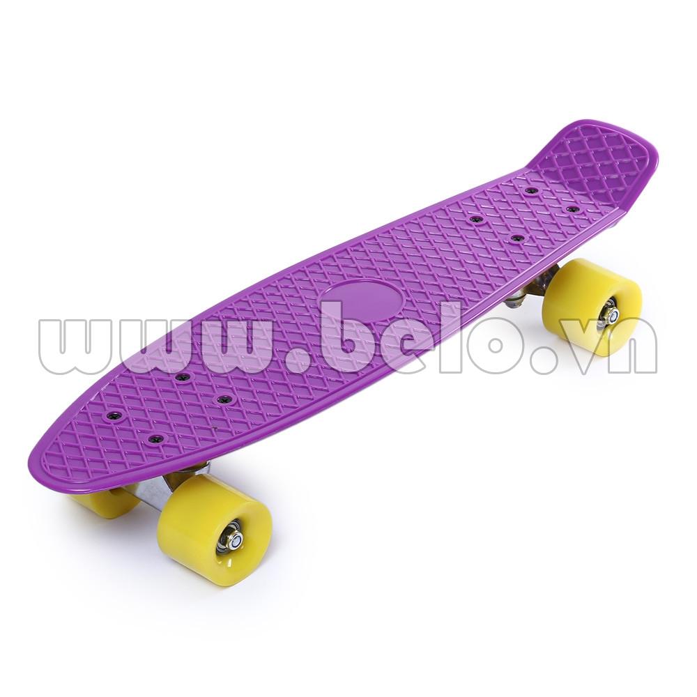 Ván trượt Skateboard Plastic ABS nhập khẩu cao cấp tím