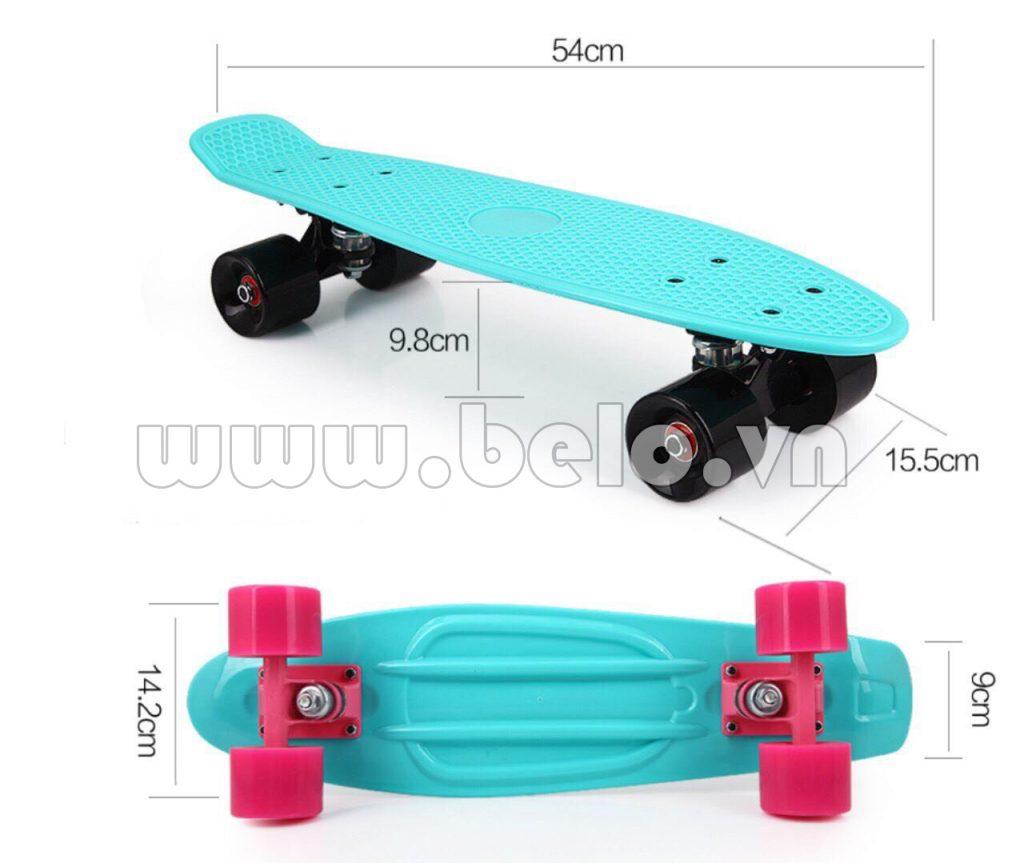 Ván trượt Skateboard Plastic ABS nhập khẩu cao cấp xanh ngọc