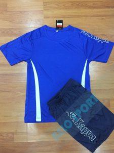 Áo bóng đá không logo Kappa K326 màu xanh dương