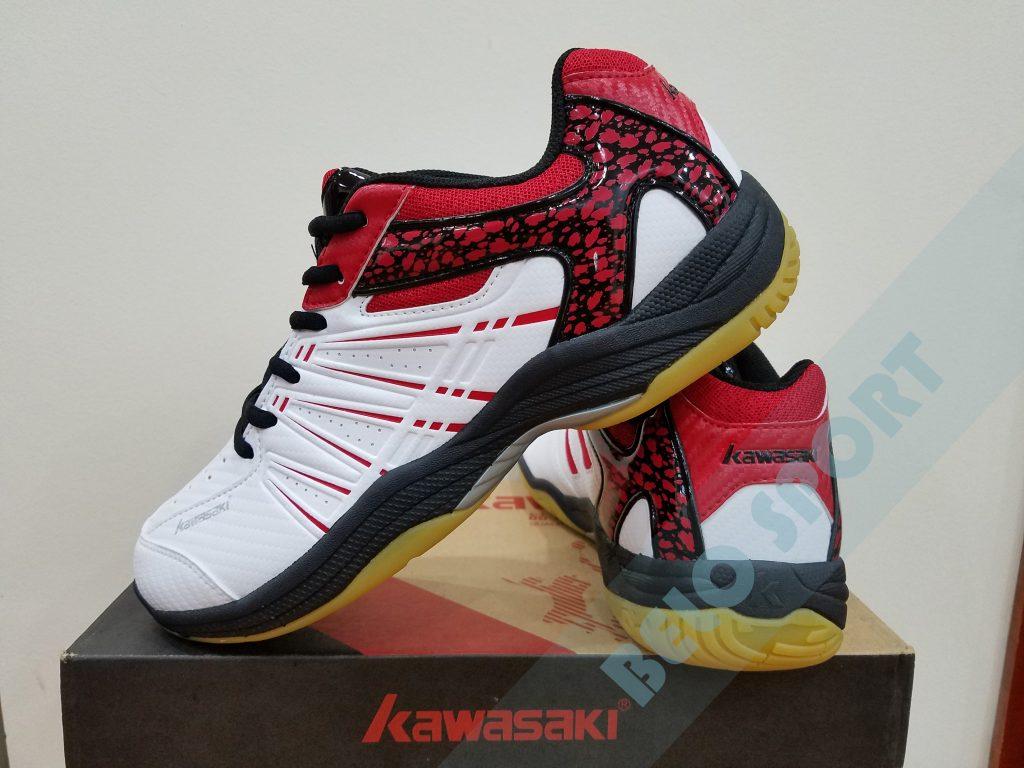Giày bóng chuyền Kawasaki 2017 chính hãng-K063 đỏ trắng