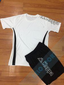 Áo bóng đá không logo Kappa K326 màu xanh trắng