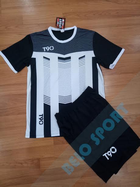 Áo không logo T90 màu đen trắng 2017-2018