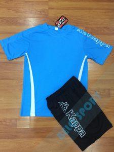Áo bóng đá không logo Kappa K326 màu xanh biển nhạt