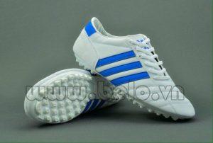 Giày bóng đá ba sọc CT3 trắng sọc xanh