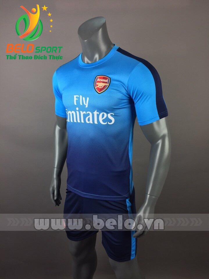Áo bóng đá CLB Arsenal 2017-2018 màu xanh