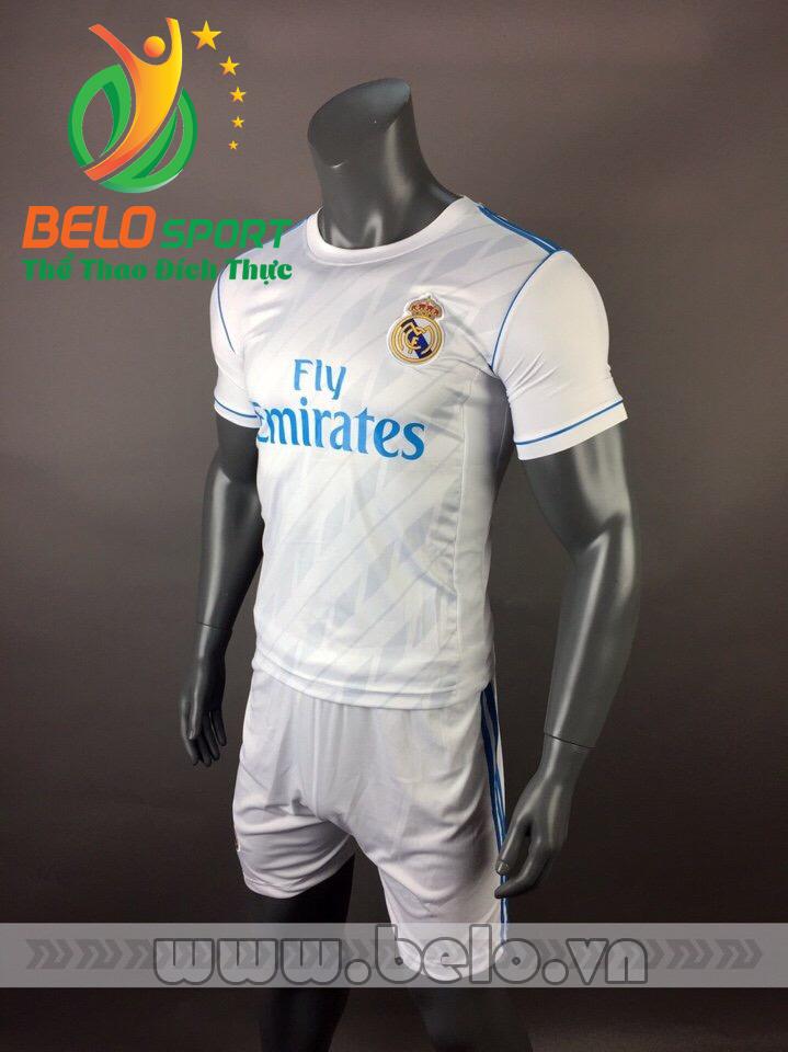 Áo bóng đá CLB Real 2017-2018 màu trắng