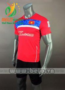 Áo bóng đá đội tuyển Việt Nam 2017-2018 màu đỏ xanh