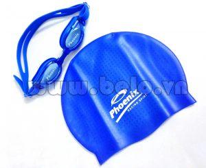 Mũ bơi chính hãng phoenix màu xanh MB12