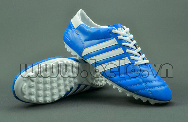 Giày bóng đá ba sọc CT3 màu xanh sọc trắng