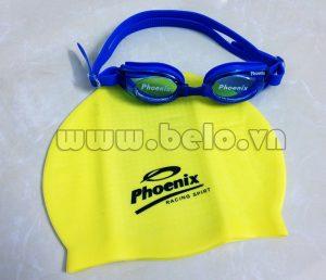Mũ bơi chính hãng phoenix màu vàng MB13
