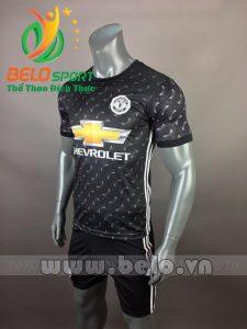 Áo bóng đá CLB manchester 2017-2018 màu đen