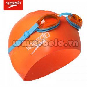 Mũ bơi chính hãng speedo màu cam MB11