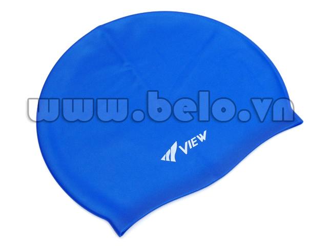 Mũ bơi chính hãng view màu xanh MB04