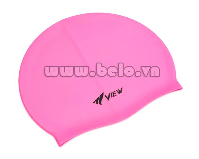 Mũ bơi chính hãng view màu hồng MB08